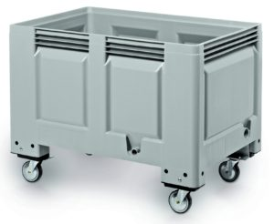 BIG BOX 1200 X 800 X 915MM - solid base and walls - 4 castor wheels