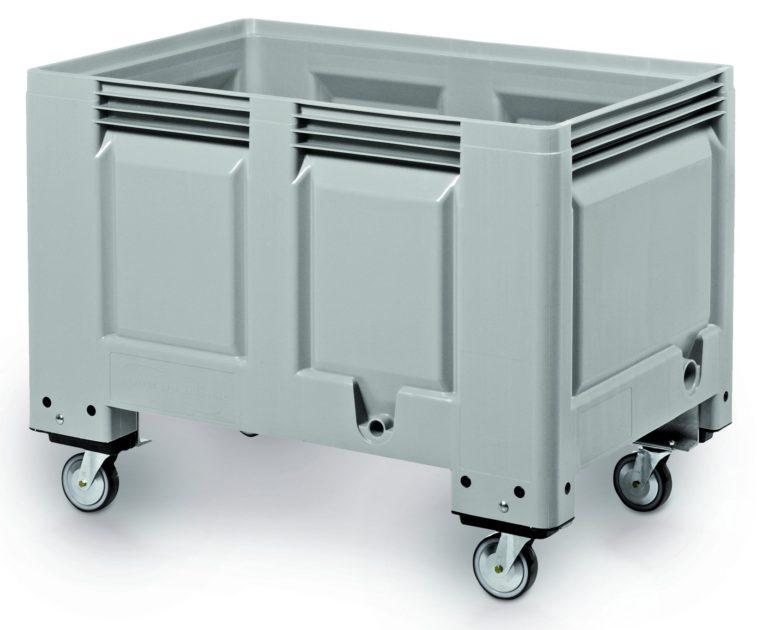 BIG BOX 1200 X 800 X 915MM - solid base and walls - 4 castor wheels